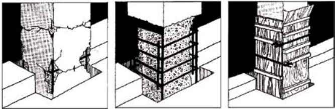 FIGURE 25 Repair of damaged or spalled reinforced concrete using polymer-modified cement mortar