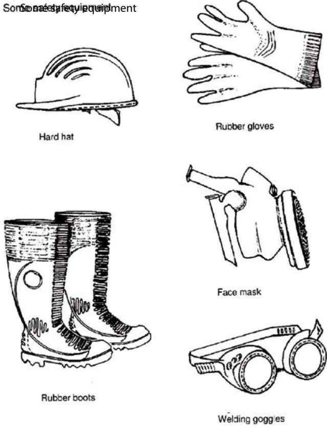 Some safety equipment