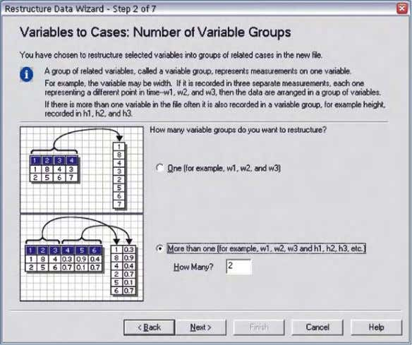 "Figure 2. We need to convert two groups of variables (""age"" and ""dist"") into cases."