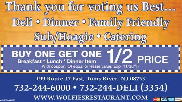 Thank you for voting us Best Deli • Dinner • Family Friendly Sub/Hoagie • Catering