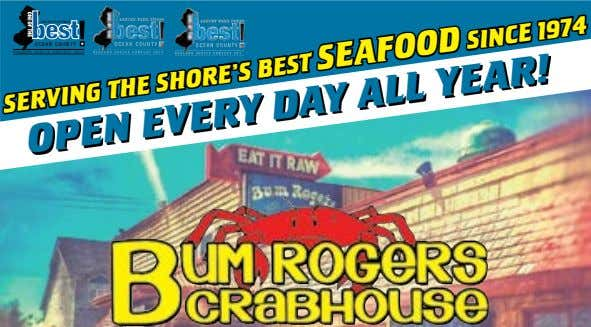 OCEAN COUNTY READERS CHOICE CONTEST 2014 SERVING THE SHORE'S BEST SEAFOOD SINCE 1974 OPEN EVERY