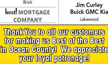 Brick MORTGAGE Jim Curley Buick GMC Kia COMPANY Lakewood Thank You to all our customers