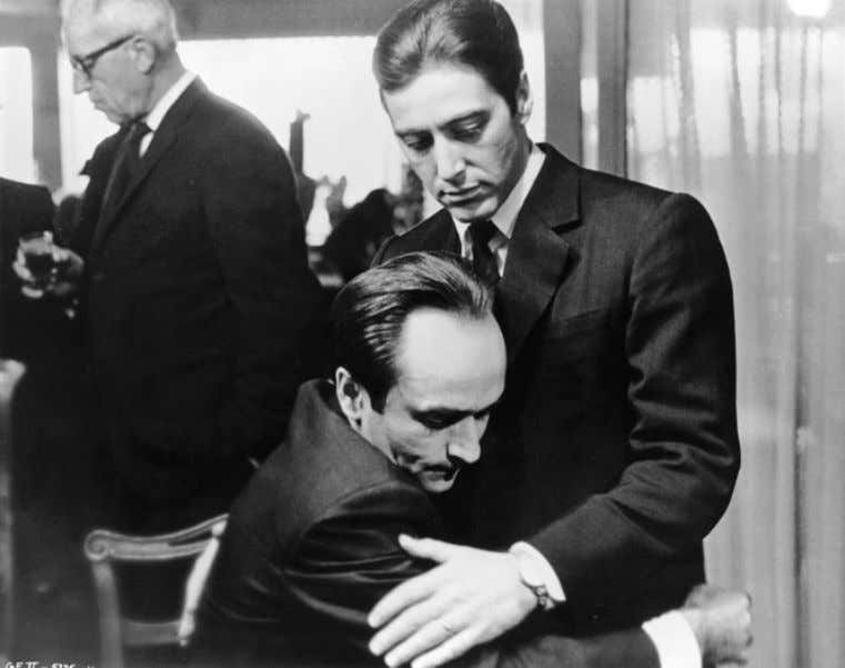 Operatic Style and Structure in Coppola's Godfather Trilogy 445 Figure 5 . Michael (Al Pacino) and