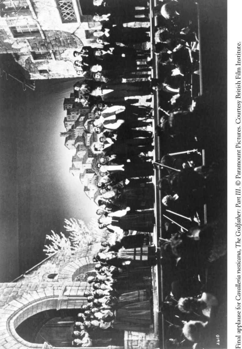 Final applause for Cavalleria rusticana, The Godfather: Part III. © Paramount Pictures. Courtesy British Film Institute.