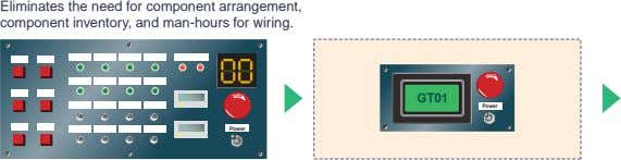 T E Eliminates the need for component arrangement, component inventory, and man-hours for wiring. T