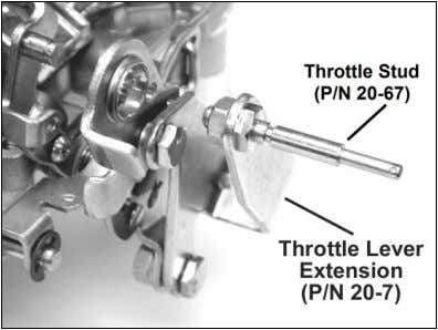 Install the stud in the throttle extension lever (Figure 1). Figure 1 — Chrysler applications FORD