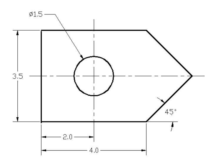 AutoCAD Tutorial: 2D Fundamentals Add-1 (Unless otherwise specified, dimensions are in inches.) 1. 2.