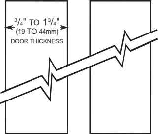 "3 /4"" TO 1 3 /4"" (19 TO 44mm) DOOR THICKNESS"