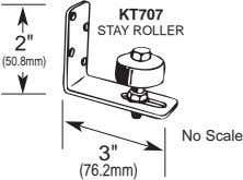 "KT707 STAY ROLLER 2"" (50.8mm) No Scale 3"" (76.2mm)"
