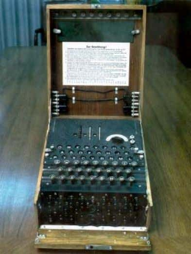 of encoding and decoding it could be solved mechanically. Enigma machine has been used during the