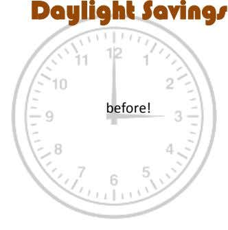 Daylight Savings before!