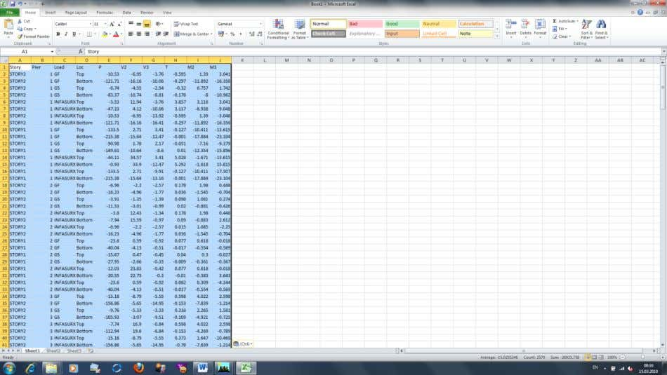 133. The copied efforts in Excel … 134. You may sort the efforts as you