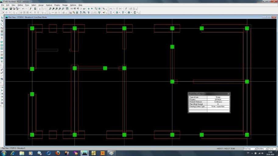 "40.You can further define the floor slabs. Select from the left toolbar ""Draw Rectangular Areas"