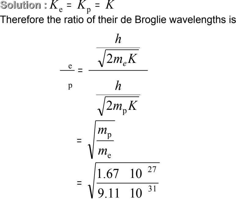 Solution Solution :: K = K = K e p Therefore the ratio of their de