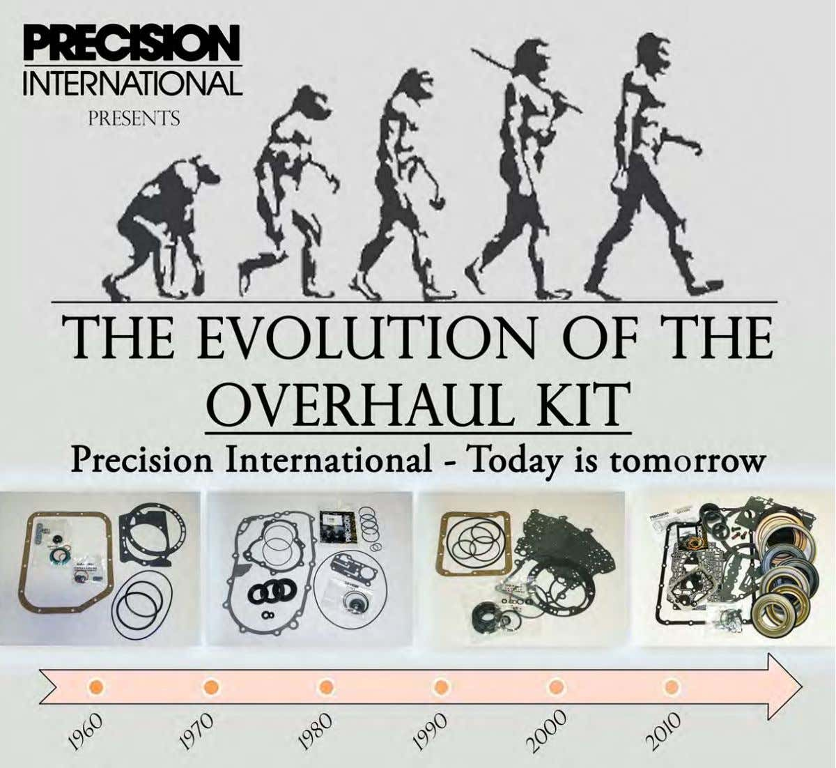 Circa 1975: Evolution 1.0 - The Beginning Precision International created their first Transmission Rebuild Overhaul