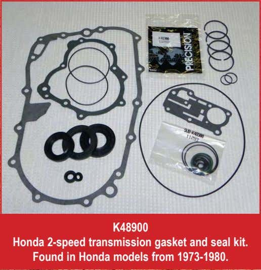 K48900 Honda 2-speed transmission gasket and seal kit. Found in Honda models from 1973-1980.