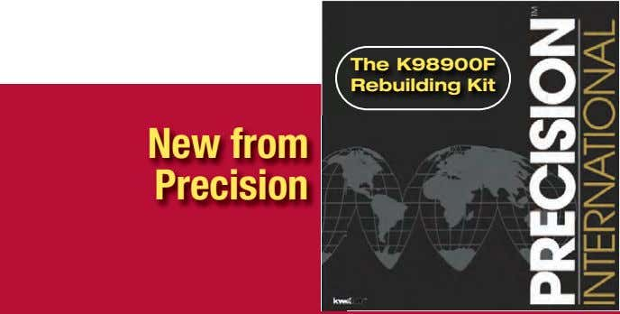 The K98900F Rebuilding Kit New from Precision