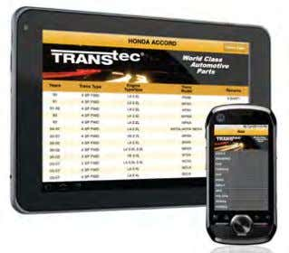New TransTec ® Smart Phone App IDs Transmissions A new smart phone app that identi- fies