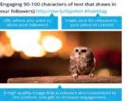 This picture breaks down a tweet into smaller portions: Image courtesy of Hootsuite 140-Character Rule It