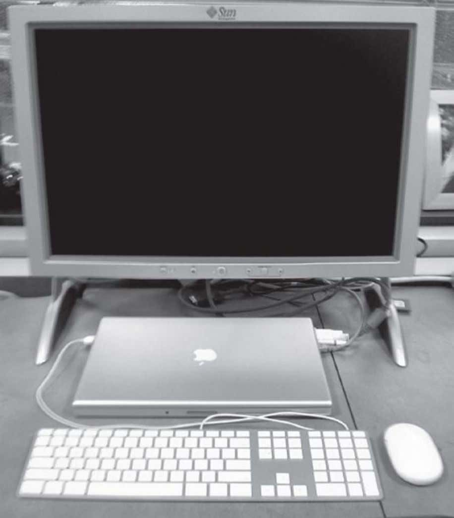 FIGURE 1.5. A desktop computer. The liquid crystal display (LCD) screen is the primary output device,