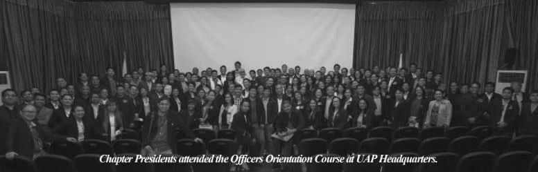 Chapter Presidents attended the Officers Orientation Course at UAP Headquarters.
