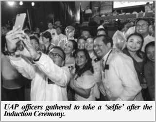 UAP officers gathered to take a 'selfie' after the Induction Ceremony.
