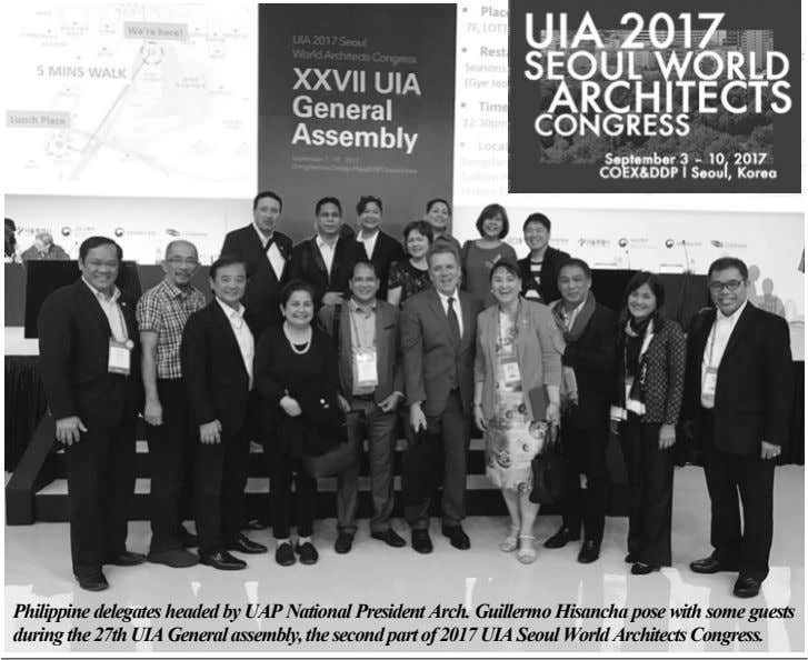 Philippine delegates headed by UAP National President Arch. Guillermo Hisancha pose with some guests during