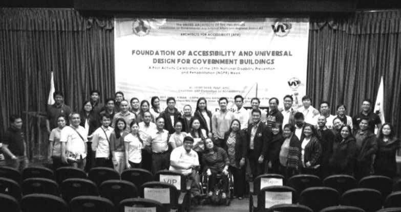 co - founder of AFA. The auditorium was filled with 134 The National Council on Disability