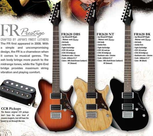 FR FR2620 DBS FR2620 NT FR1620 BK • 5pc Wizard HP Maple /Walnut neck A