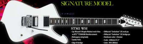 SIGNATURE MODEL STM1 WH • 5pc Wizard II Maple/Walnut neck-thru w/KTS™ TITANIUM Reinforcement • DiMarzio®