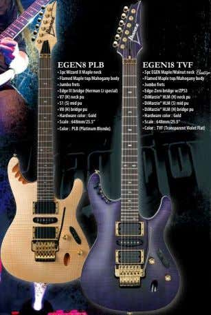 EGEN8 PLB EGEN18 TVF • 3pc Wizard II Maple neck • 5pc EGEN Maple/Walnut neck