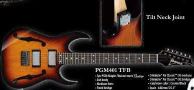 Tilt Neck Joint PGM401 TFB • 5pc PGM Maple /Walnut neck A • DiMarzio® Air