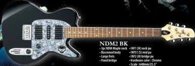 NDM2 BK • 3pc NDM Maple neck • INF1 (H) neck pu • Basswood body