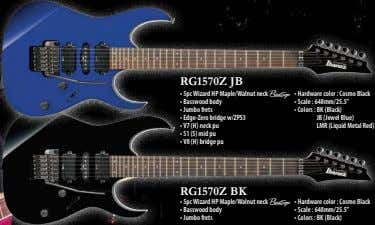 RG1570Z JB • 5pc Wizard HP Maple/Walnut neck A • Hardware color : Cosmo Black