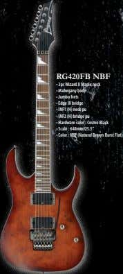 RG420FB NBF • 3pc Wizard II Maple neck • Mahogany body • Jumbo frets •