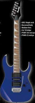 • GRG1 Maple neck • Basswood body • Medium frets • Fat 10 bridge •