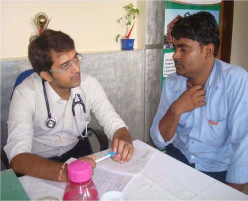 who have been very co-operative during the entire study. Figure 3.Doctor of SMS&R, Sharda University examining