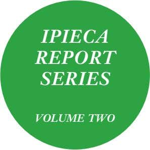 IPIECA REPORT SERIES VOLUME TWO