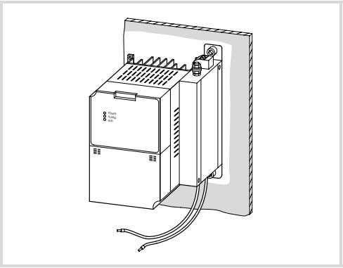 Installation Figure 20: POWER ALARM RUN Book-type mounting (on right side in the example) On the