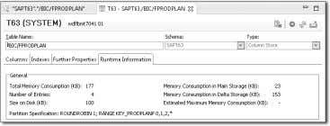 Go to the Runtime Information tab shown in Fig- ure 10.36. Figure 10.36 SAP HANA Memory