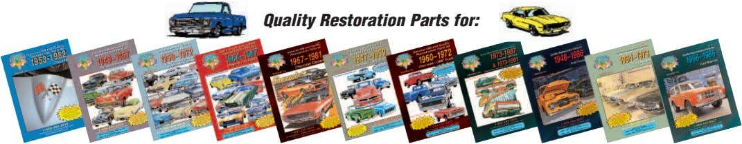 Quality Restoration Parts for: