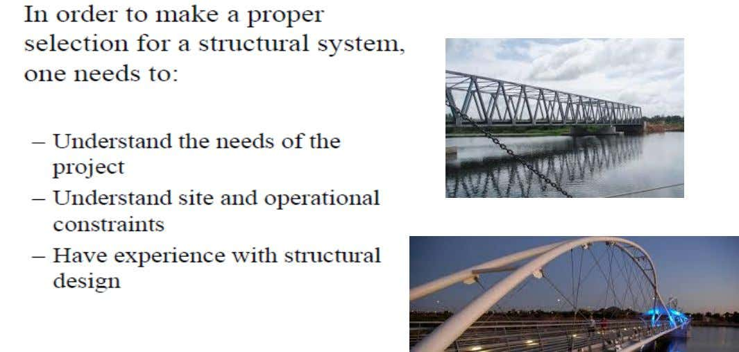Introduction to Limit States Design Structural System Selection 8