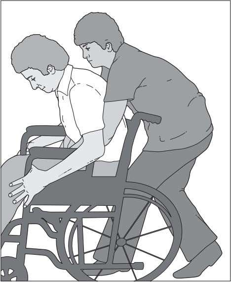RESPIRATORY THERAPY 63 Figure 5.4 Assisted coughing in a wheelchair. Figure 5.5 Assisted coughing in a