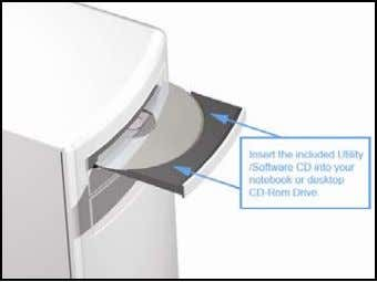 connecting the Insert the support CD into your CD Drive. The CD drive should auto-load the