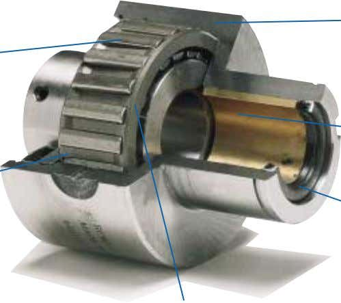 for maximum power transmission with no loss of motion. Bronze sleeve bearing combining concentricity and long