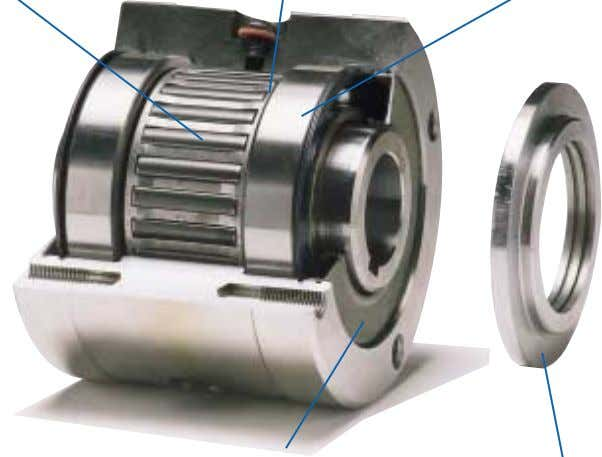 duty bearing fitted for maximum load capacity and long life. Seal used for oil filled clutches