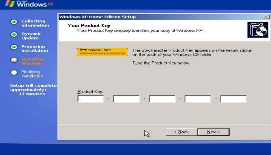 Windows Thundan (Windows installation) Lem 31 Product Key ah hian tuna I thun tur Windows key