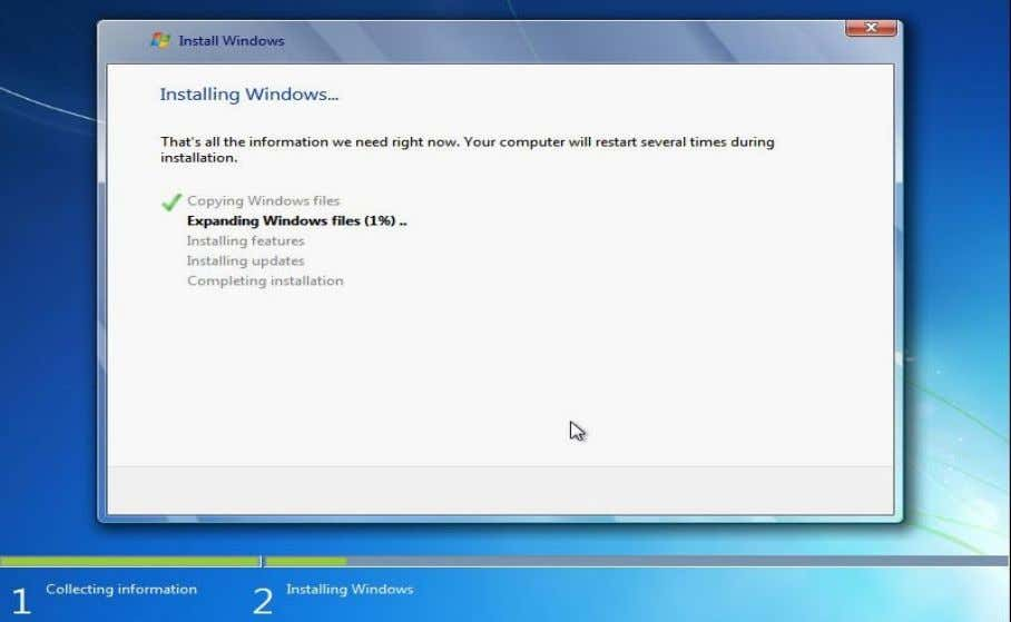 Windows Thundan (Windows installation) Lem 47 Lem 47 ang hi a rawn lang ang minute 30