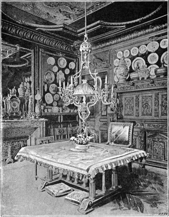 "of The Idler Magazine, An Illustrated Monthly, June 1893. the dining room. ""I work like a"