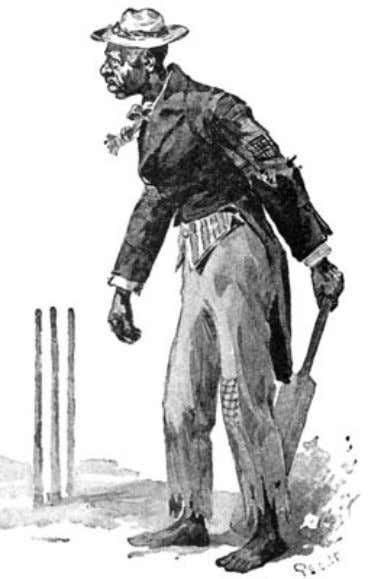 "of The Idler Magazine, An Illustrated Monthly, June 1893. ""a black umpire."" Then the game steadied"